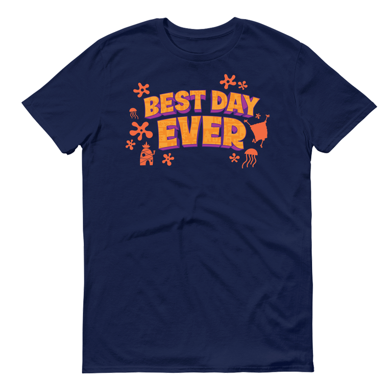 SpongeBob SquarePants Sponge on the Run Best Day Ever Adult Short Sleeve T-Shirt