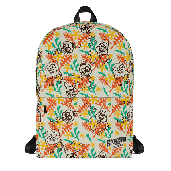 SpongeBob SquarePants Sponge on the Run Camp Coral Floral Premium Backpack