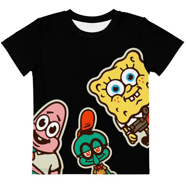 SpongeBob SquarePants Sponge on the Happy Campers Kids Short Sleeve T-Shirt