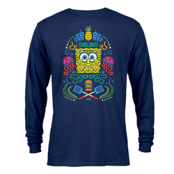 SpongeBob SquarePants Day of the Dead Full Color Adult Long Sleeve T-Shirt