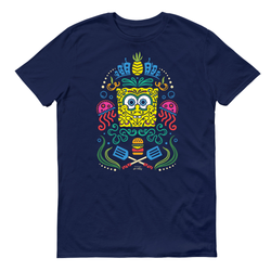 SpongeBob SquarePants Day of the Dead Full Color Adult Short Sleeve T-Shirt - SpongeBob SquarePants Official Shop