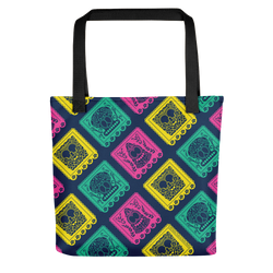 SpongeBob SquarePants Day of the Dead Full Color Pattern Premium Tote Bag - SpongeBob SquarePants Official Shop