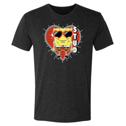 SpongeBob SquarePants Heart Sunglasses Stud Men's Tri-Blend T-Shirt