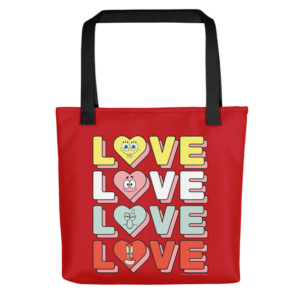 SpongeBob SquarePants Stacked Love Premium Tote Bag - SpongeBob SquarePants Official Shop