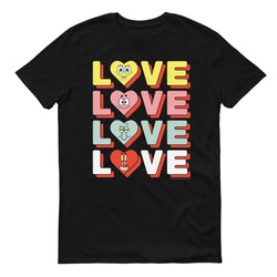 SpongeBob SquarePants Stacked Love Adult Short Sleeve T-Shirt