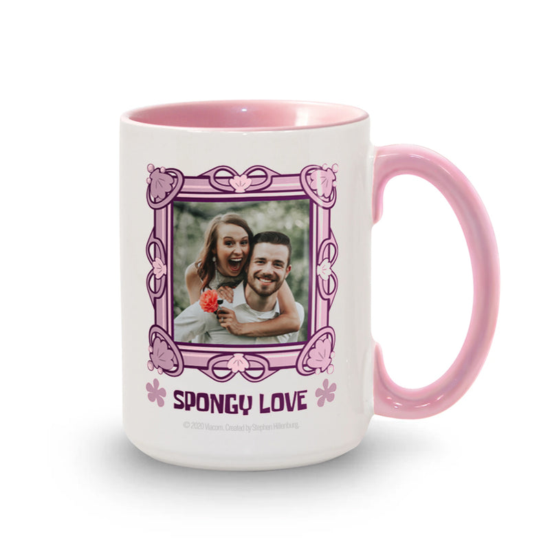 SpongeBob SquarePants Spongy Love Personalized Two-Tone Mug