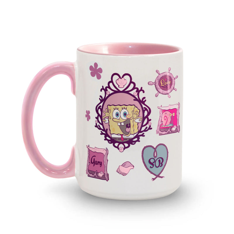 SpongeBob SquarePants Spongy Love Personalized Two-Tone Mug - SpongeBob SquarePants Official Shop