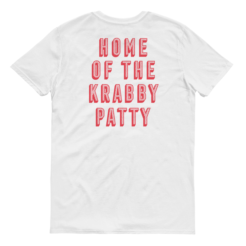 The Krusty Krab Home of the Krabby Patty Adult Short Sleeve T-Shirt - SpongeBob SquarePants Official Shop