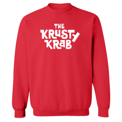 SpongeBob SquarePants The Krusty Krab Logo Fleece Crewneck Sweatshirt