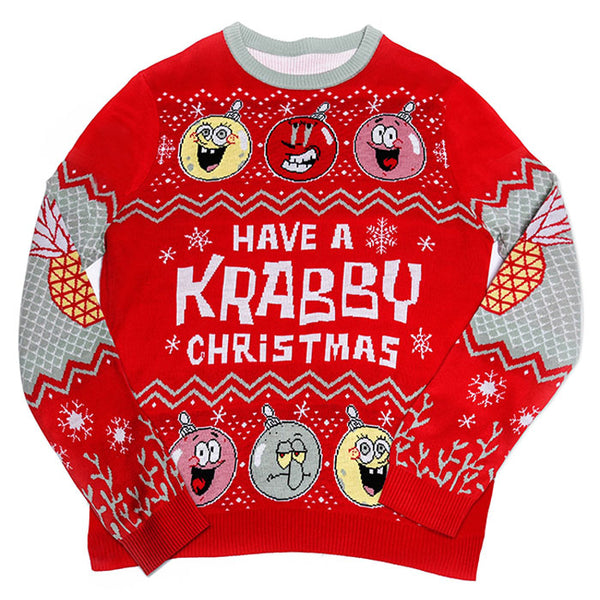 SpongeBob Krabby Christmas Ugly Holiday Sweater - SpongeBob SquarePants Official Shop