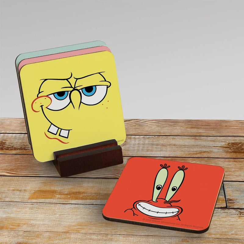 SpongeBob SquarePants Character Coasters - Set of 4 - SpongeBob SquarePants Official Shop