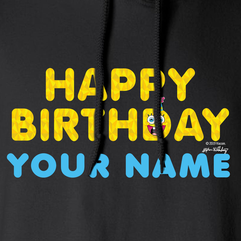 SpongeBob SquarePants Happy Birthday EmojiFleece Hooded Sweatshirt