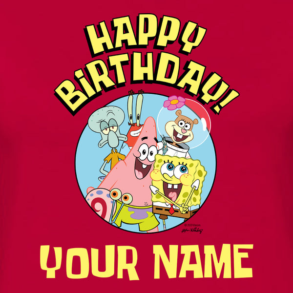 SpongeBob SquarePants Group Shot Personalized Women's Short Sleeve T-Shirt