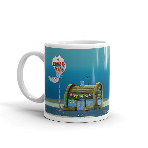 The Krusty Krab 11 oz White Mug