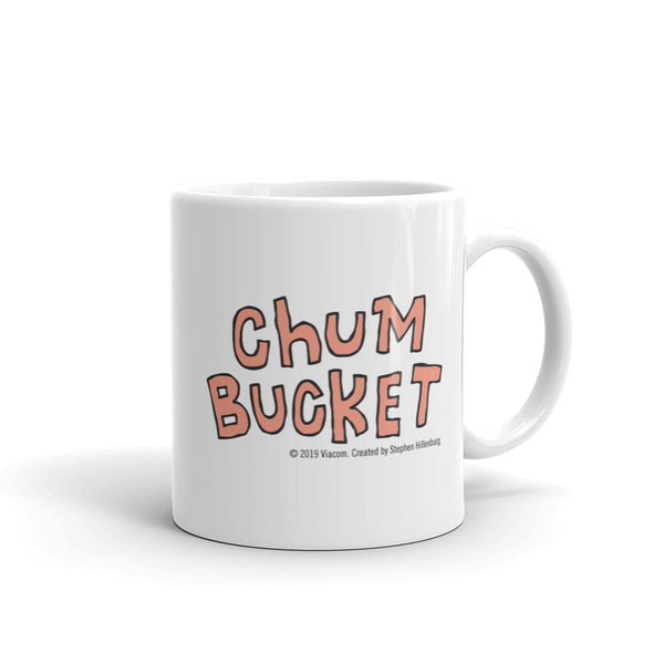 Chum Bucket Run Away Plankton White Mug - SpongeBob SquarePants Official Shop