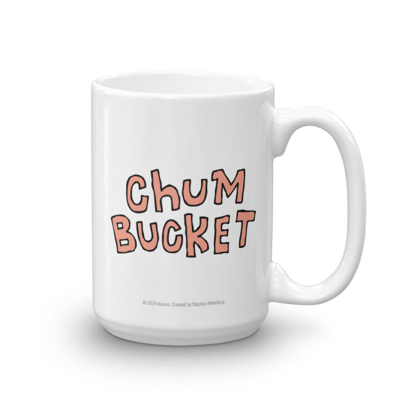 Chum Bucket Nice Buns White Mug - SpongeBob SquarePants Official Shop