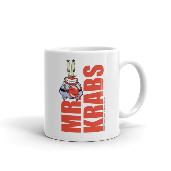 Mr. Krabs Big Money White Mug - SpongeBob SquarePants Official Shop