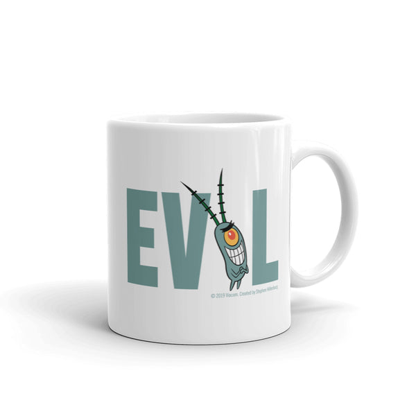 Plankton Evil White Mug - SpongeBob SquarePants Official Shop