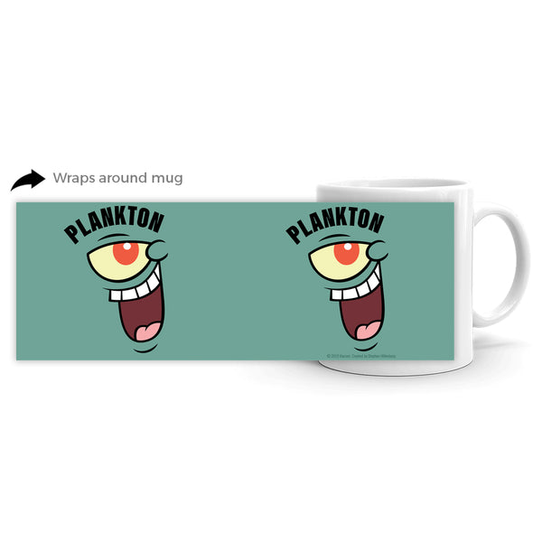 Plankton Big Face 11 oz Mug
