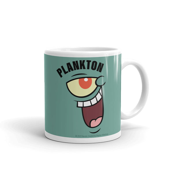 Plankton Big Face 11 oz Mug - SpongeBob SquarePants Official Shop