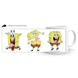 SpongeBob SquarePants Feelin' Moody 11 oz white Mug - SpongeBob SquarePants Official Shop