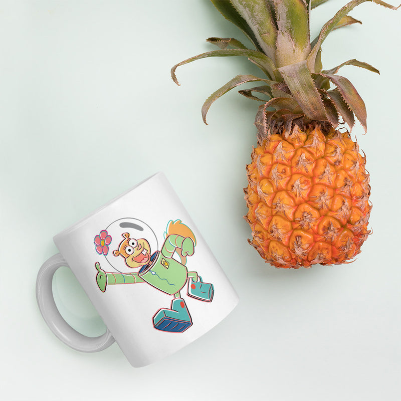 Sandy Cheeks 3D 11 oz White Mug