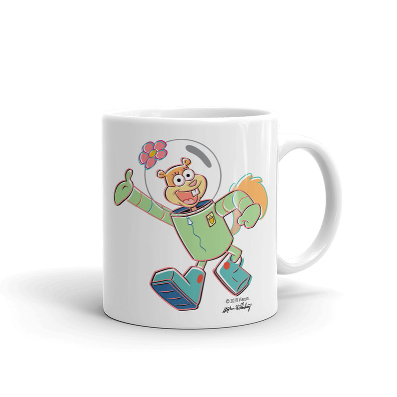 Sandy Howdy White Mug - SpongeBob SquarePants Official Shop