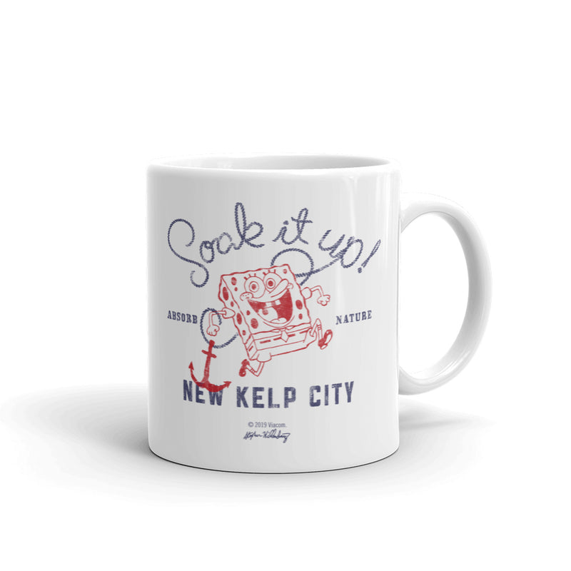 SpongeBob SquarePants Soak it Up White Mug - SpongeBob SquarePants Official Shop