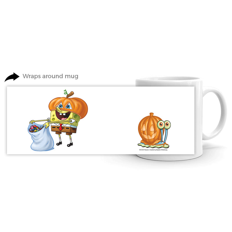 SpongeBob SquarePants Spongebob and Gary Halloween White Mug