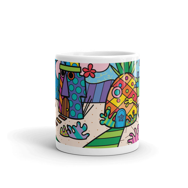 SpongeBob SquarePants Britto White Mug - SpongeBob SquarePants Official Shop