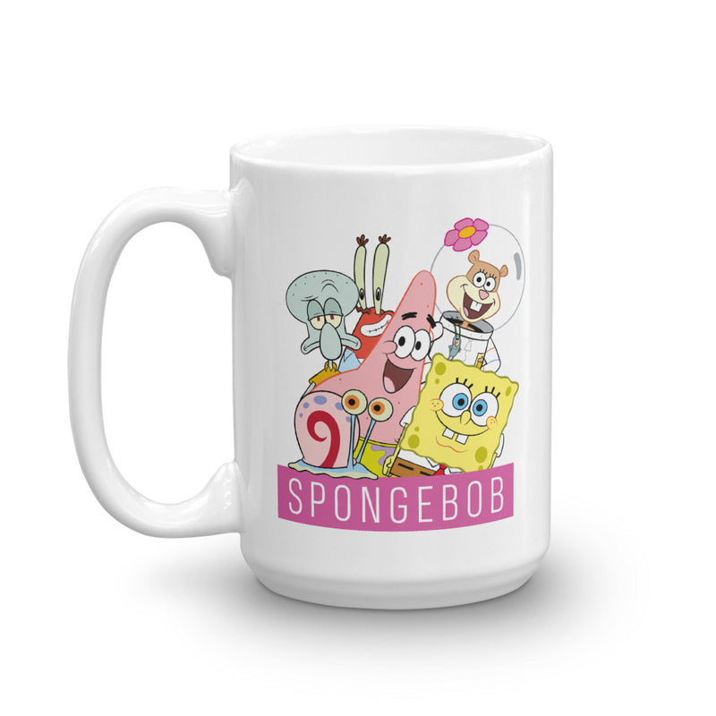SpongeBob SquarePants Group Shot White Mug - SpongeBob SquarePants Official Shop