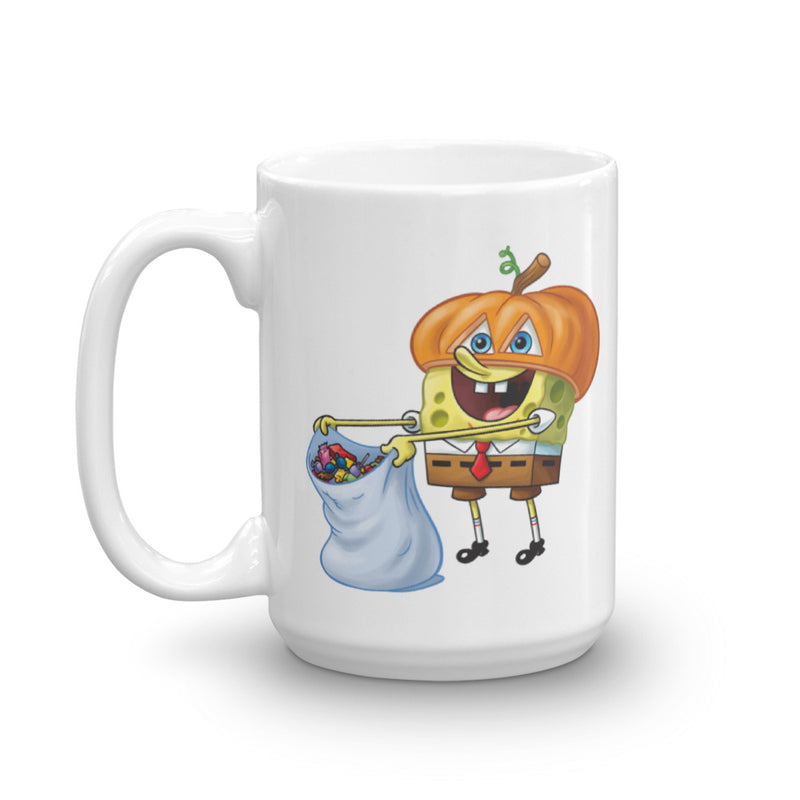 SpongeBob SquarePants Spongebob and Gary Halloween White Mug - SpongeBob SquarePants Official Shop
