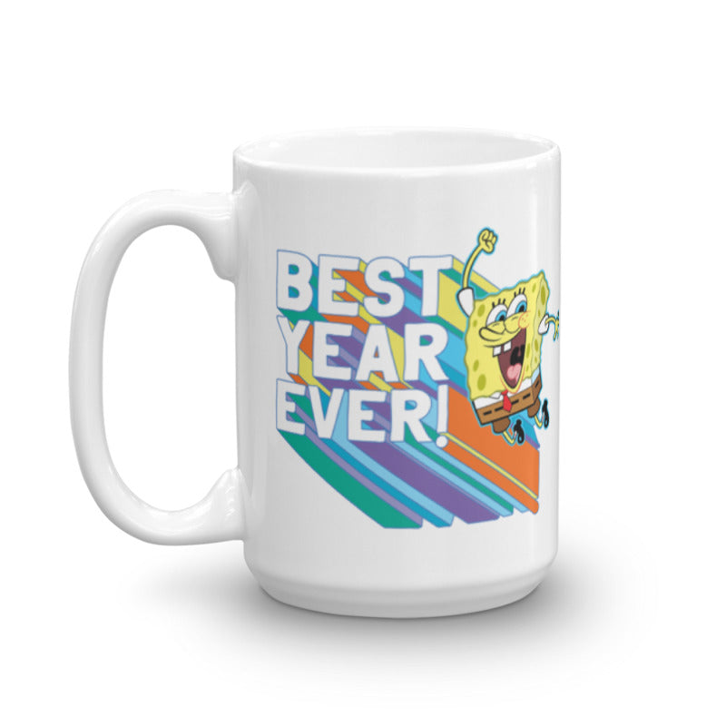 SpongeBob SquarePants Rainbow Best Year Ever Mug - SpongeBob SquarePants Official Shop
