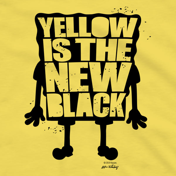 SpongeBob SquarePants Yellow Is The New Black Short Sleeve T-Shirt ...
