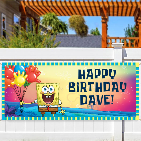 Spongebob Squarepants Personalized Banner - SpongeBob SquarePants Official Shop
