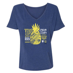 SpongeBob SquarePants Color of Happy Women's Relaxed V-Neck T-Shirt