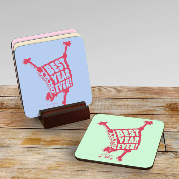 SpongeBob SquarePants Best Year Ever Coaster Set of 4 - SpongeBob SquarePants Official Shop
