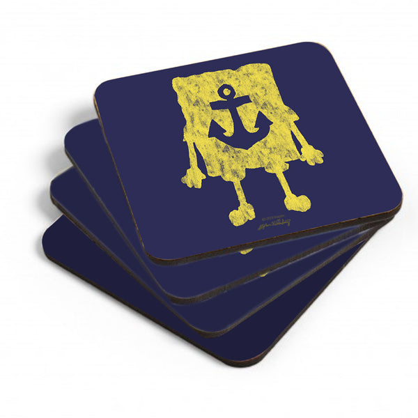SpongeBob SquarePants Yellow Silhouette Coasters - Set of 4