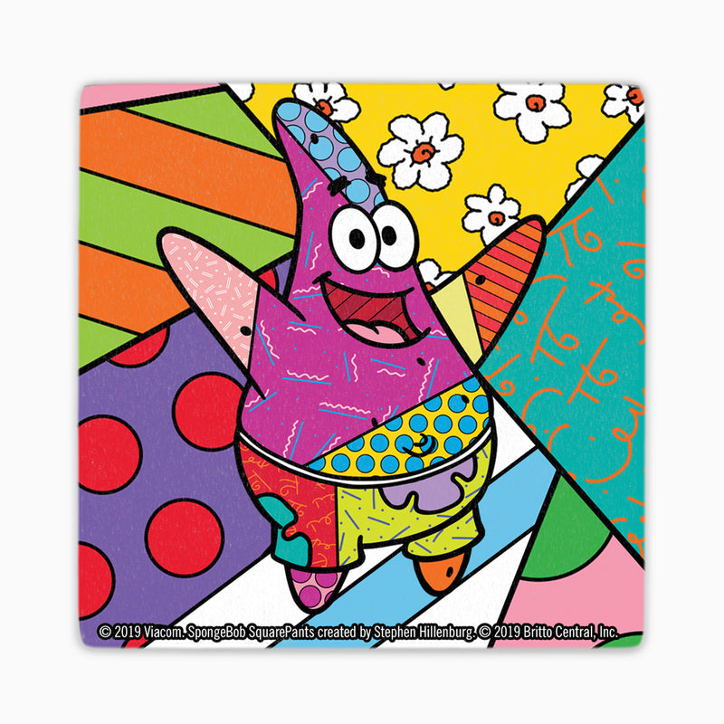 SpongeBob Britto Coaster Set of 4- SpongeBob, Patrick, Squidward, Mr. Krabs - SpongeBob SquarePants Official Shop