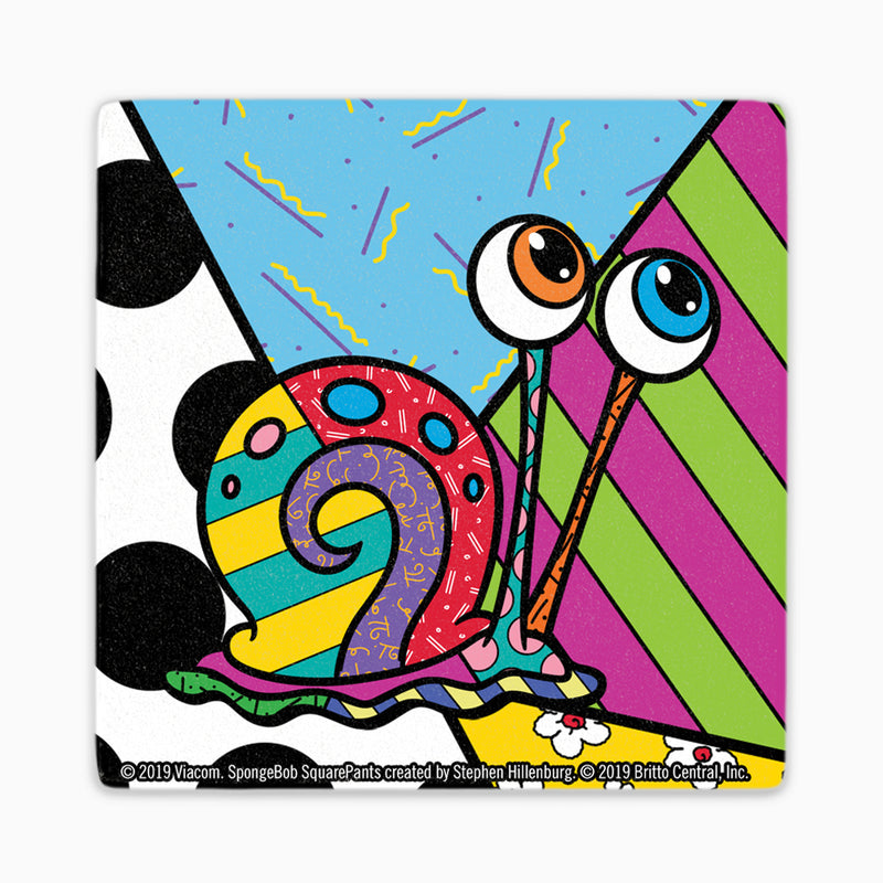 SpongeBob Britto Coaster Set of 4 - SpongeBob, Sandy, Plankton, Gary - SpongeBob SquarePants Official Shop