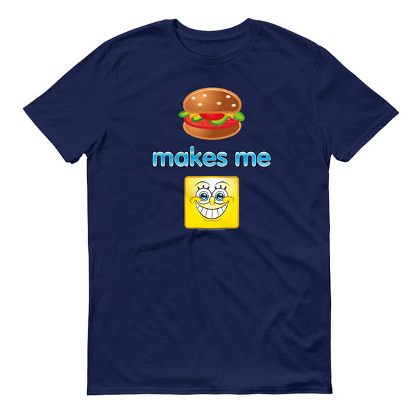 SpongeBob SquarePants Emoji Burger Smile Men's Short Sleeve T-Shirt