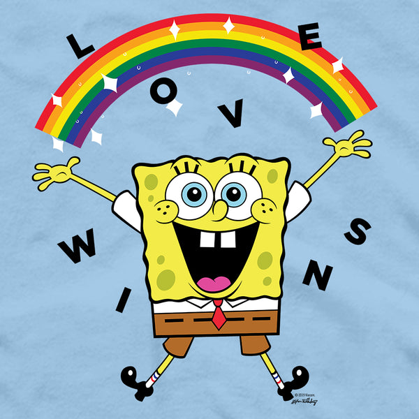 SpongeBob SquarePants Love Wins Adult Short Sleeve T-Shirt