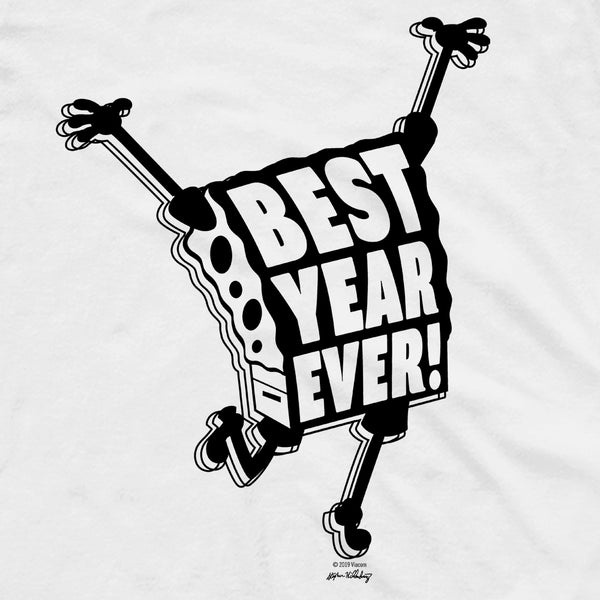 SpongeBob Squarepants Best Year Ever Adult Short Sleeve T-Shirt