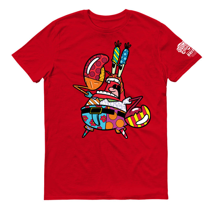 SpongeBob SquarePants Mr. Krabs Britto Adult Short Sleeve T-Shirt