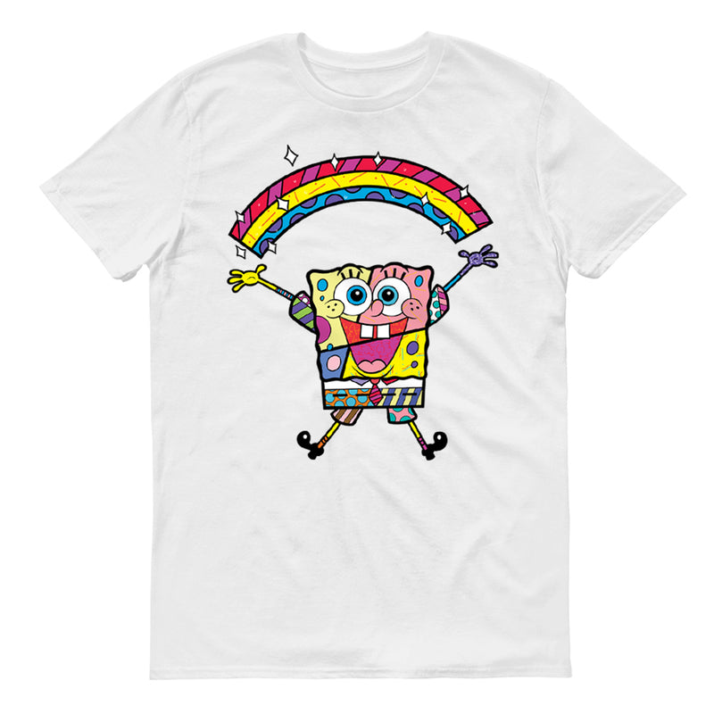 SpongeBob SquarePants SpongeBob SquarePants Britto Rainbow Adult Short Sleeve T-Shirt