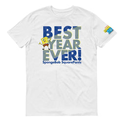 SpongeBob SquarePants Best Year Ever Blue Adult Short Sleeve T-Shirt