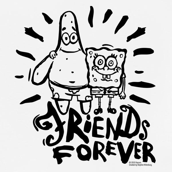 SpongeBob SquarePants Friends Forever Kids Short Sleeve T-Shirt - SpongeBob SquarePants Official Shop
