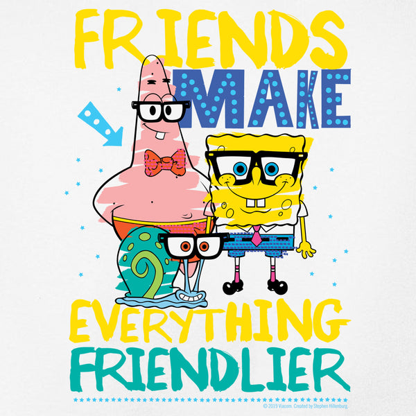 SpongeBob SquarePants Friendlier Kids Short Sleeve T-Shirt - SpongeBob SquarePants Official Shop