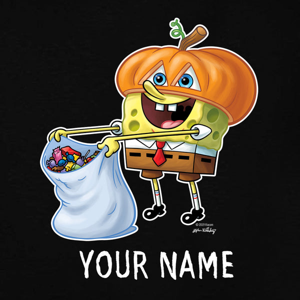 SpongeBob SquarePants Trick-or-Treat Personalized Kids Short Sleeve T-Shirt