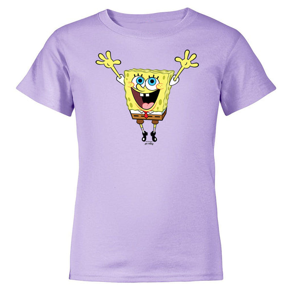 SpongeBob SquarePants Hands in the Air 20th Anniversary Kids Short Sleeve T-Shirt